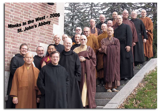 [christian and buddhist monks]